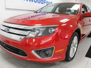 Used 2012 Ford Fusion SEL AWD with sunroof, heated power leather seat and keyless entry for sale in Edmonton, AB