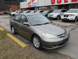 Used 2005 Honda Civic LX-G~SUNROOF~ALLOY WHEELS~CERTIFIED for sale in Toronto, ON