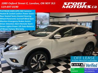 Used 2016 Nissan Murano Platinum+GPS+Panoramic Roof+Remote Start+Xenons for sale in London, ON
