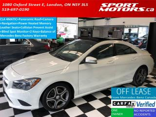 Used 2015 Mercedes-Benz CLA-Class CLA250 4MATIC+GPS+Camera+Panoramic Roof+Power Seat for sale in London, ON