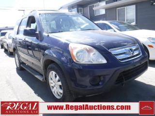 Used 2006 Honda CR-V 4D Utility AWD for sale in Calgary, AB