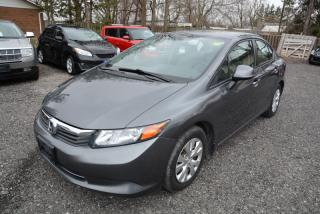 Used 2012 Honda Civic LX, auto, a/c, bluetooth for sale in Halton Hills, ON