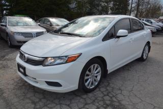 Used 2012 Honda Civic EX, auto, sunroof, alloy wheels for sale in Halton Hills, ON
