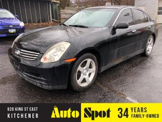 Used 2003 Infiniti G35 Luxury for sale in Kitchener, ON