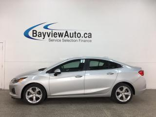 Used 2019 Chevrolet Cruze Premier - AUTO! HTD LTHR! ONSTAR! REMOTE START! ALLOYS! + MORE! for sale in Belleville, ON