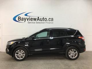 Used 2018 Ford Escape SEL - 4WD! NAV! PANOROOF! BLK ON BLK LTHR! for sale in Belleville, ON