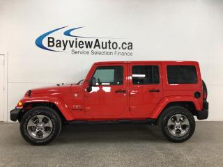 Used 2018 Jeep Wrangler JK Unlimited Sahara - AUTO! HTD LEATHER! PAINTED HARD TOP! NAV! ALLOYS! for sale in Belleville, ON