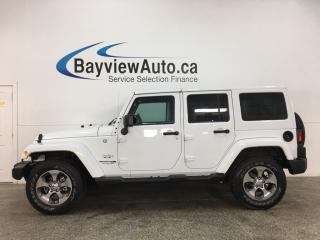 Used 2018 Jeep Wrangler JK Unlimited Sahara - AUTO! 4X4! HTD LTHR! PAINTED TOP! PWR GROUP! for sale in Belleville, ON