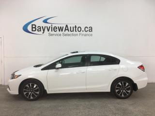 Used 2013 Honda Civic EX - 5SPD! SUNROOF! HTD SEATS! REVERSE CAM! ALLOYS! for sale in Belleville, ON