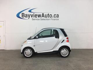 Used 2015 Smart fortwo Pure - 13,000KMS! AUTO! A/C! PWR GROUP! NAV! for sale in Belleville, ON
