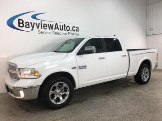 Used 2018 RAM 1500 Laramie - 4X4! 8SPD AUTO! HEMI! RAMBOX! HTD LTHR! CARPLAY! for sale in Belleville, ON