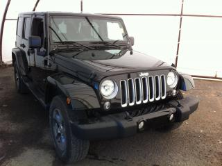Used 2018 Jeep Wrangler JK Unlimited Sahara NAVIGATION, CONNECTIVITY GROUP, REMOTE FACTORY STARTER, 6.5 TOUCH SCREEN for sale in Ottawa, ON