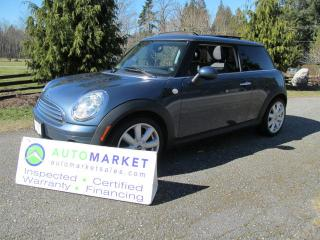 Used 2009 MINI Cooper PREMIUM, 6SP, ROOF, INSP, BCAA MBSHP, WARR, FINANCE for sale in Surrey, BC