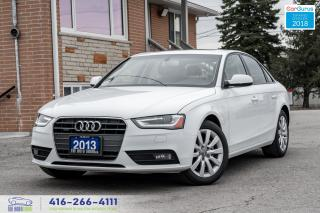 Used 2013 Audi A4 AWD QUATTRO NEW + TIRES BRAKES CERTIFIED SERVICED for sale in Bolton, ON