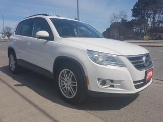 Used 2011 Volkswagen Tiguan COMFORTLINE-2 Years Warranty-Leather-Panorama Roof for sale in Scarborough, ON