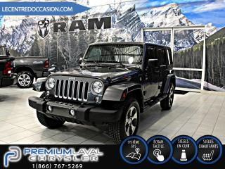 Used 2017 Jeep Wrangler UNLIMITED SAHARA 4X4*CUIR/NAV/AUTOMATIQU for sale in Laval, QC