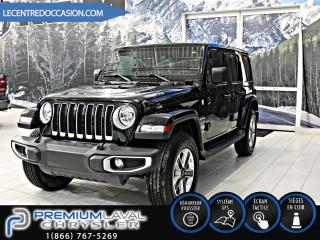 Used 2018 Jeep Wrangler UNLIMITED SAHARA 4X4*CUIR/8.4P/NAV/NEW M for sale in Laval, QC