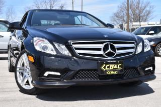 Used 2011 Mercedes-Benz E-Class CONVERTIBLE - LEATHER - WE FINANCE ALL CREDITS !!! for sale in Oakville, ON