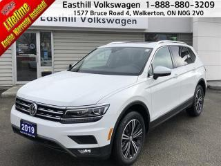 Used 2019 Volkswagen Tiguan Highline 2.0T 8sp at w/Tip 4M for sale in Walkerton, ON
