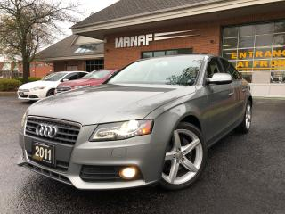 Used 2011 Audi A4 2.0T (Tiptronic) Sunroof Heated Seats Cert* for sale in Concord, ON