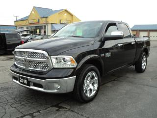 Used 2018 RAM 1500 Laramie CrewCab 4X4 5.7L Hemi 6.5ft Box MoonRoof for sale in Brantford, ON