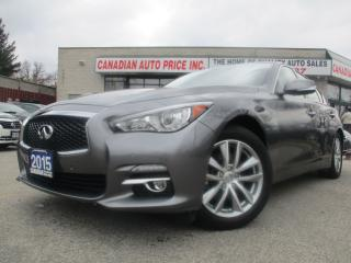 Used 2015 Infiniti Q50 AWD-LIMITED-NAVI-CAM-SPORT- ROOF-BLIND SPOT for sale in Scarborough, ON