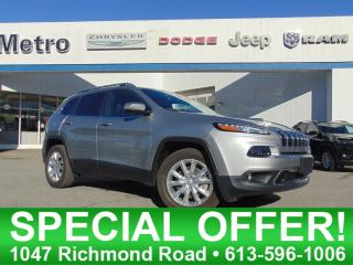 Used 2016 Jeep Cherokee Limited for sale in Ottawa, ON