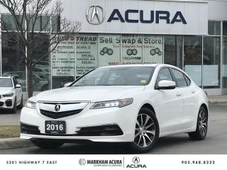 Used 2016 Acura TLX 2.4L P-AWS w/Tech Pkg Navi, Blind Spot Indicators, Moonroof for sale in Markham, ON