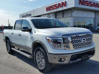 Used 2018 Nissan Titan Platinum Reserve 4x4 w/all leather,NAV,panoramic steering,climate control,rear cam,trailer brakes for sale in Cambridge, ON