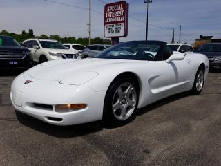 Used 1998 Chevrolet Corvette CLEAN CAR PROOF !!  ONE OWNER !! CONVERTIBLE for sale in Cambridge, ON