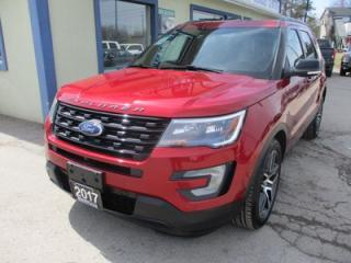 Used 2017 Ford Explorer FOUR-WHEEL DRIVE SPORT EDITION 7 PASSENGER 3.5L - ECO.. BENCH & 3RD ROW.. LEATHER.. HEATED/AC SEATS.. NAVIGATION.. SUNROOF.. BACK-UP CAMERA.. for sale in Bradford, ON