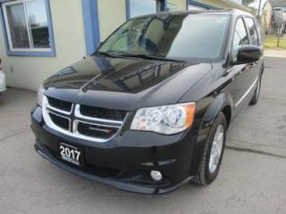 Used 2017 Dodge Grand Caravan LOADED CREW EDITION 7 PASSENGER 3.6L - V6.. CAPTAINS.. STOW-N-GO.. LEATHER.. HEATED SEATS.. BACK-UP CAMERA.. POWER DOORS & WINDOWS.. for sale in Bradford, ON