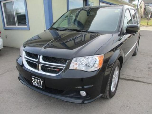 2017 Dodge Grand Caravan LOADED CREW EDITION 7 PASSENGER 3.6L - V6.. CAPTAINS.. STOW-N-GO.. LEATHER.. HEATED SEATS.. BACK-UP CAMERA.. POWER DOORS & WINDOWS..