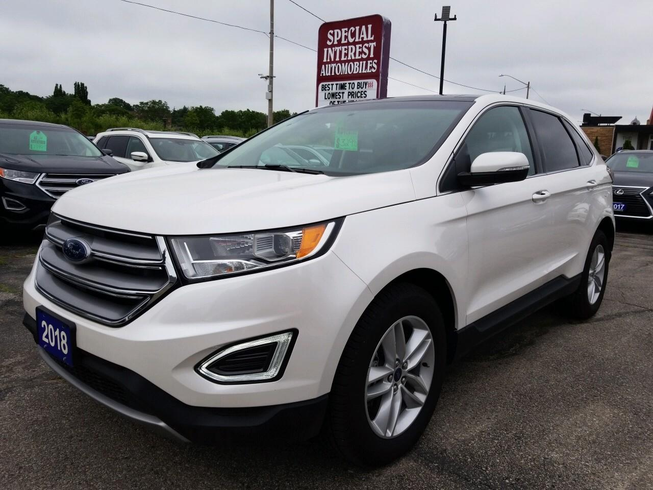 Used 2018 Ford Edge Sel Navigation Sunroof Leather Awd For