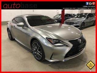 Used 2016 Lexus RC 350 RC350 F-SPORT 1 NAVIGATION BLIND SPOT R.CAM CLEAN CARFAX for sale in Vaughan, ON