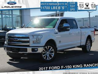 Used 2017 Ford F-150 King Ranch 4x4 Cuir for sale in Victoriaville, QC