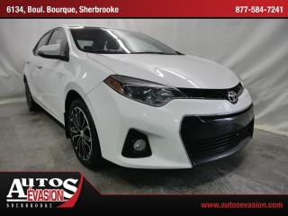Used 2015 Toyota Corolla S + TOIT + MAGS for sale in Sherbrooke, QC