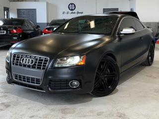 Used 2011 Audi S5 V8|NAV|BACK UP|ACCIDENT FREE|MATTE BLACK for sale in Oakville, ON
