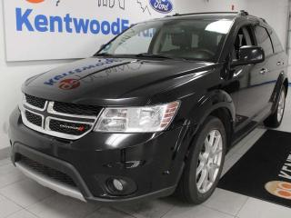 Used 2014 Dodge Journey RT AWD, sunroof, heated power leather seats, heated steering wheel, rear DVD entertainment system, back up cam for sale in Edmonton, AB