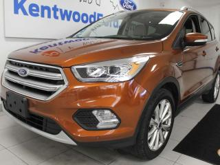 Used 2017 Ford Escape Titanium 4WD ecoboost, NAV, sunroof, heated power leather seats, heated steering wheel, power liftgate, back up cam for sale in Edmonton, AB