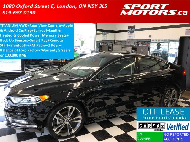 2018 Ford Fusion Titanium AWD+Camera+Sunroof+Cooled &Heated Leather