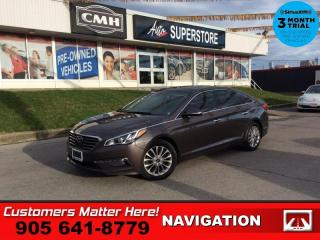Used 2015 Hyundai Sonata Limited  ADAP-CC NAV LEATH ROOF LD CW REMOTE for sale in St. Catharines, ON