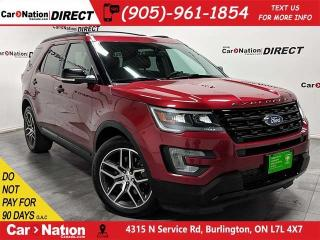 Used 2017 Ford Explorer Sport| 4X4| DUAL SUNROOF| NAVI| for sale in Burlington, ON