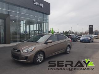 Used 2013 Hyundai Accent Gl, A/c, Banc Ch for sale in Chambly, QC