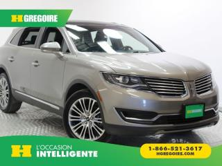 Used 2016 Lincoln MKX RESERVE A/C CUIR for sale in St-Léonard, QC