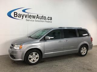 Used 2015 Dodge Grand Caravan Crew - 3 ZONE A/C! STOW 'N GO! HTD LTHR! DVD! ALLOYS! + MORE! for sale in Belleville, ON