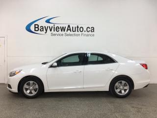 Used 2015 Chevrolet Malibu 1LT - AUTO! ONSTAR! LEATHER TIM SEATS! ALLOYS! + MORE! for sale in Belleville, ON