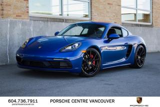 Used 2018 Porsche 718 Cayman GTS PDK | PORSCHE CERTIFIED for sale in Vancouver, BC