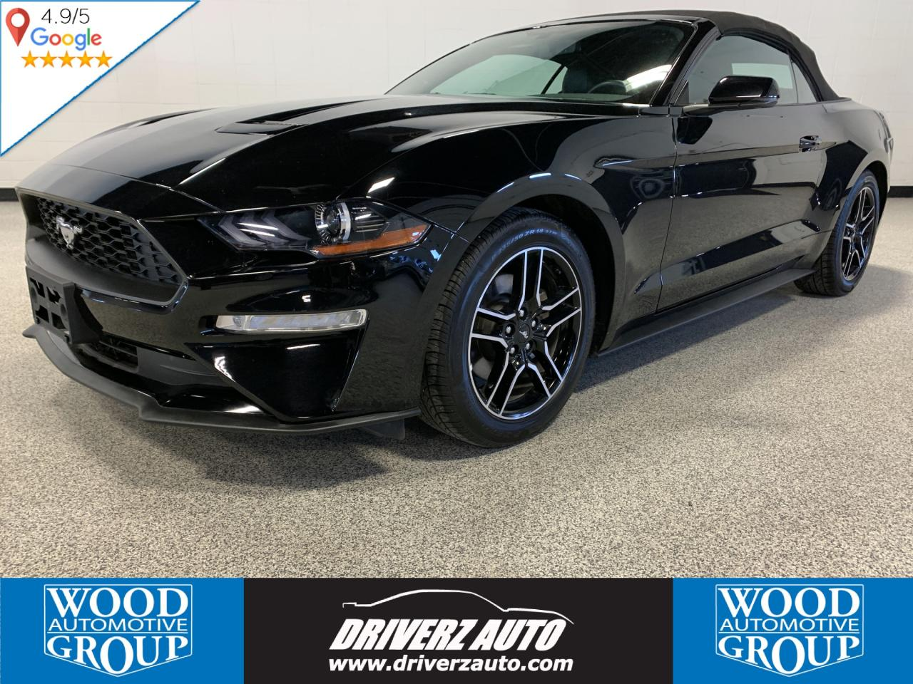 Used 2018 ford mustang ecoboost premium convertible leather heated cooled seats navigation for sale in calgary alberta carpages ca