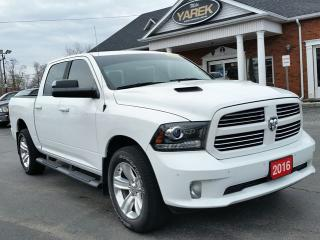Used 2016 RAM 1500 Sport 4x4, Sunroof, Leather Heated/Vented Seats, NAV, Remote Start, Back Up Cam, Spray In Liner for sale in Paris, ON